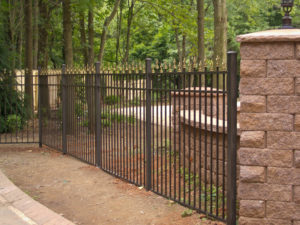 aluminum fencing can be a great replacement for wrought iron fences aluminum fencing offers the look of a wrought iron fence without the cost